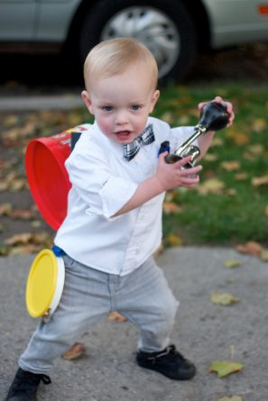DIY One Man Band Toddler Costume
