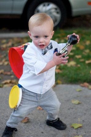 DIY One Man Band Toddler Costume