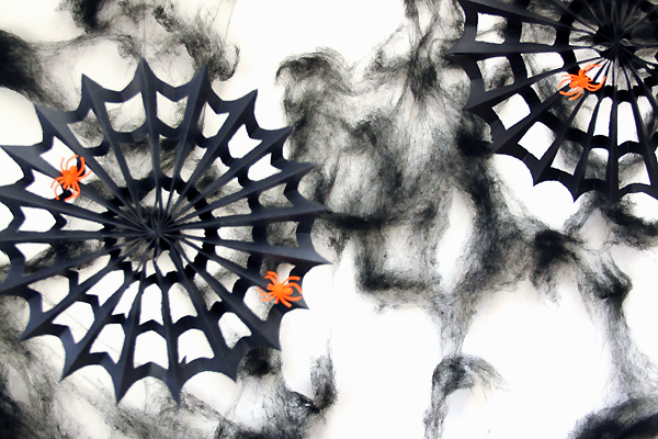 DIY Spiderweb Paper Pinwheels