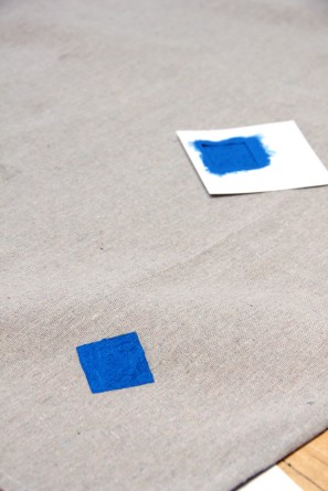 DIY Stenciled Picnic Blanket