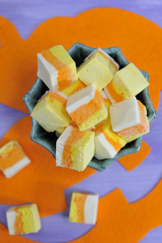 Candy Corn Marshmallows for Halloween