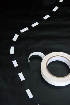 Chalkboard Road Table Runner Playmat