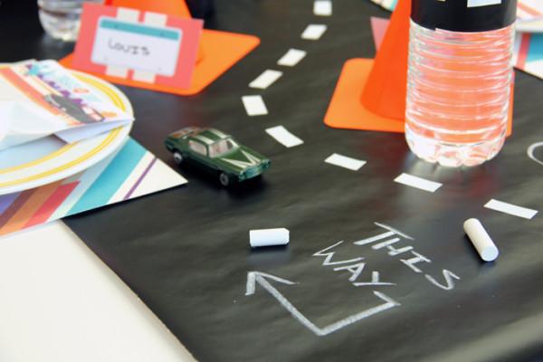 DIY Chalkboard Road Table Runner