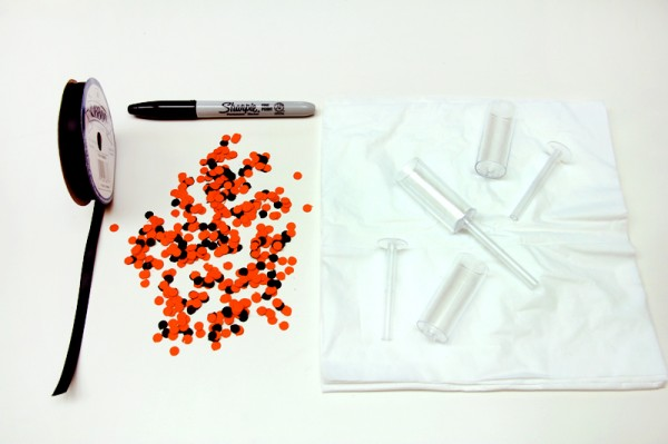 DIY Ghost Confetti Popper Supplies