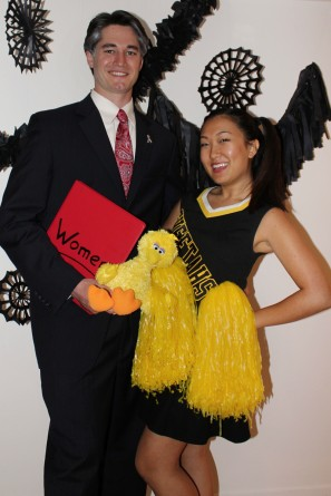 DIY Mitt Romney and Cheerleader Costumes
