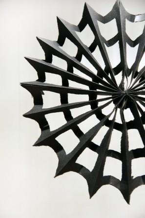 DIY Paper Spiderwebs