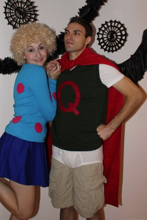 DIY Quail Man and Patty Mayonnaise Halloween Costumes