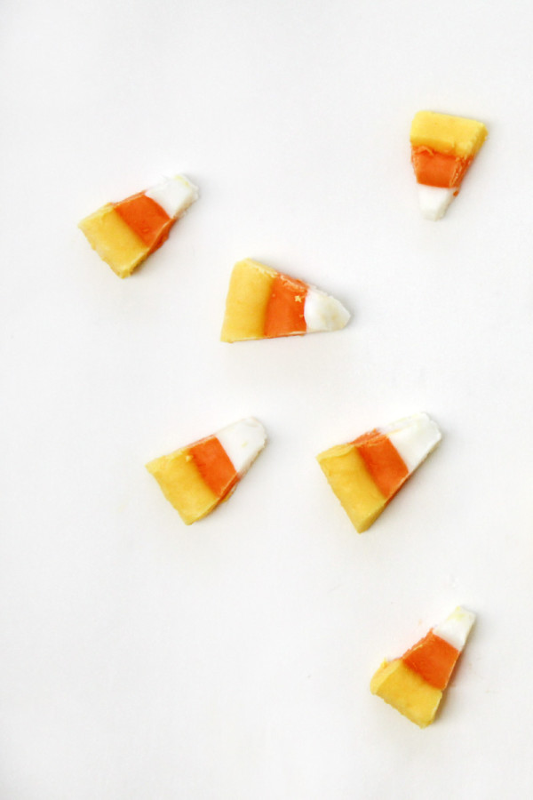 Frozen Yogurt Candy Corn for Halloween