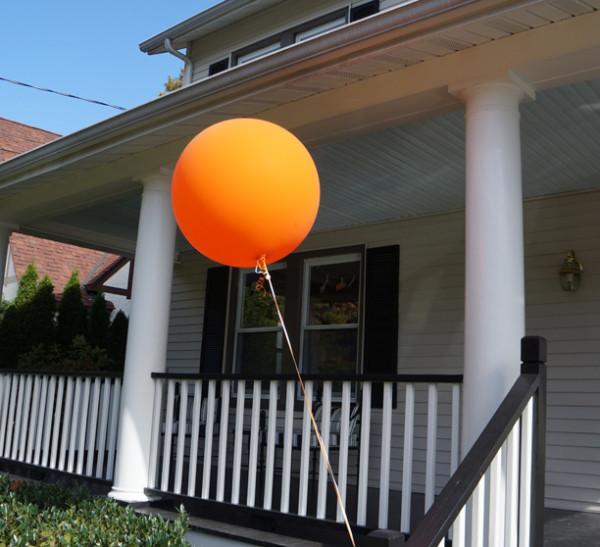 Big Orange Birthday Balloons