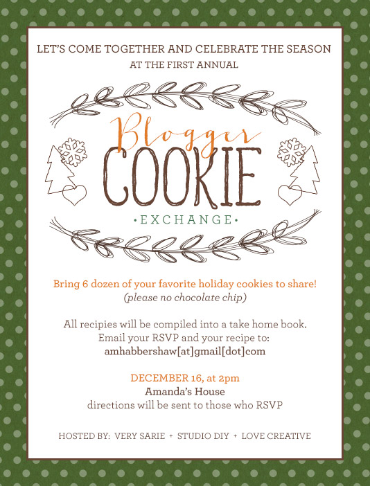 Blogger Cookie Exchange