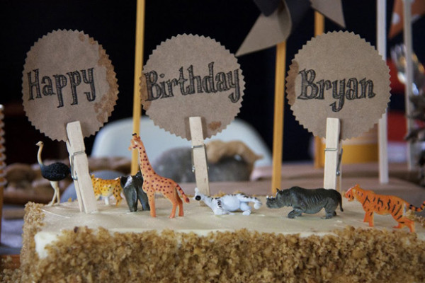 Clothespin Cake Toppers