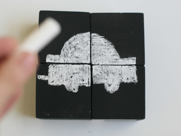 DIY Chalkboard Block Gift