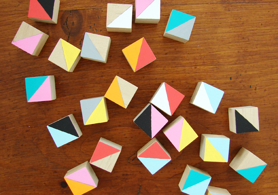 DIY Colorful Wooden Blocks