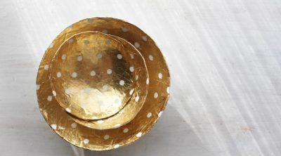 DIY Gilded Bowls
