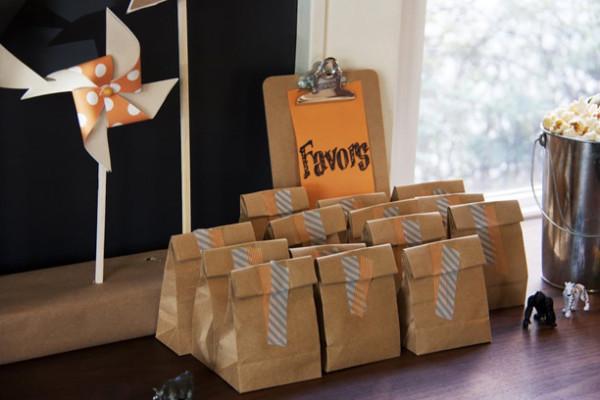 DIY Washi Tape Favor Bags
