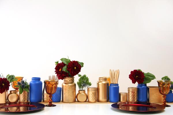Upcycled DIY Jar Centerpiece