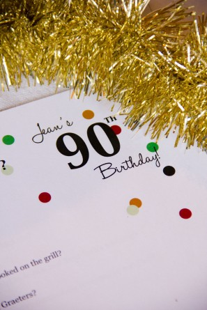 DIY Surprise 90th Birthday Party