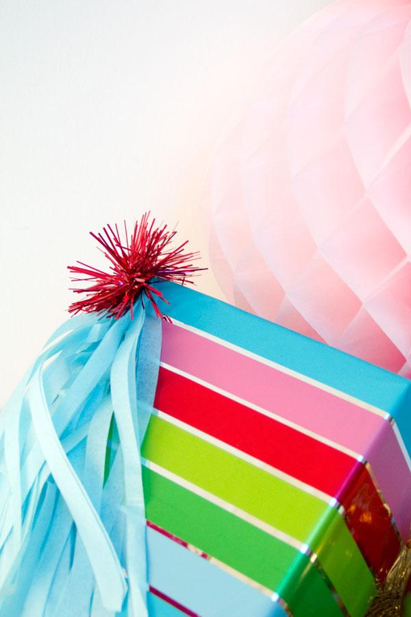DIY Fringe Tassel Gift Toppers
