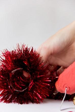 DIY Tinsel Napkin Rings