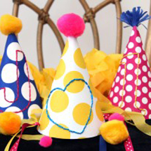 DIY Embroidered Party Hats