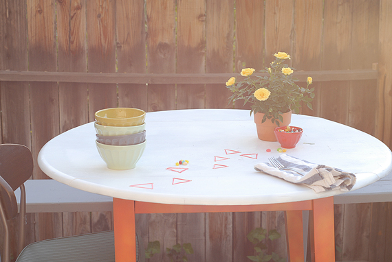 DIY Embroidered Table