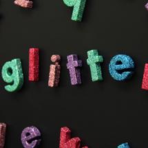 DIY Glitter Letter Magnets