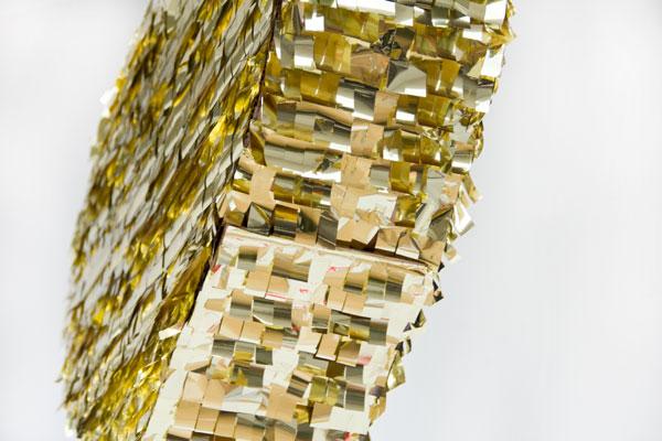 DIY Gold Mylar Pinata
