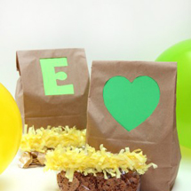 DIY Colorful Lunch Bag Cut Outs