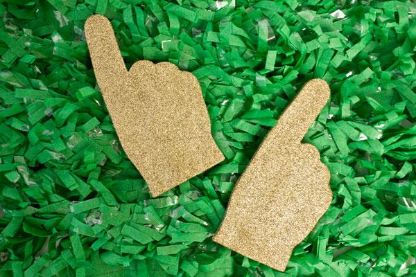 DIY Mini Glitter Foam Fingers