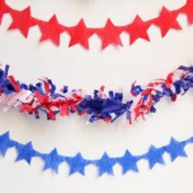 Fourth of July DIY Star Streamers