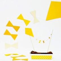DIY Kite Garland + Cake Topper