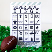 picture relating to Printable Super Bowl Bingo Cards named Absolutely free Printable 2013 Tremendous Bowl Bingo
