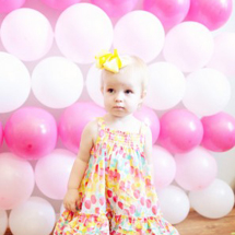 Vera's Pretty in Pink DIY First Birthday Party