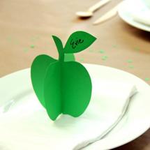 DIY 3D Apple Place Cards