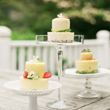 Mini Tiered Cakes with Fruit and Herbs