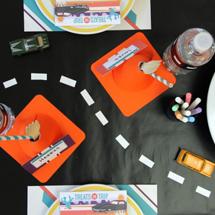 DIY Chalkboard Car Play Mat + Table Runner