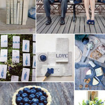 Inspiration: A Berry Blue + Weathered Wood Wedding