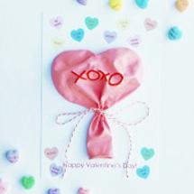 Conversation Heart Balloons + Free Printable Valentines