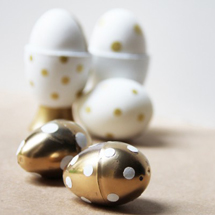 DIY Gold Easter Eggs + Egg Cups
