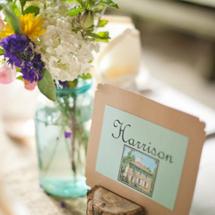 Colorful DIY Indiana Wedding
