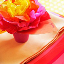 DIY Paper Flower Pot Place Cards