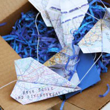 DIY Paper Airplane Garland for Father's Day