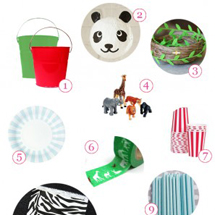 Red, Green + Zebra Safari Party Supply Guide