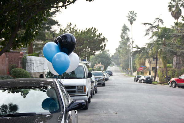 Car with Balloons