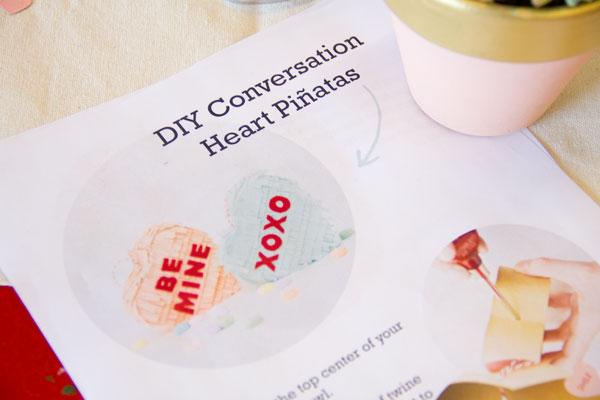 Conversation Heart Pinata Instructions