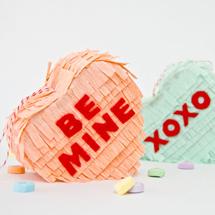 DIY Conversation Heart Piñatas
