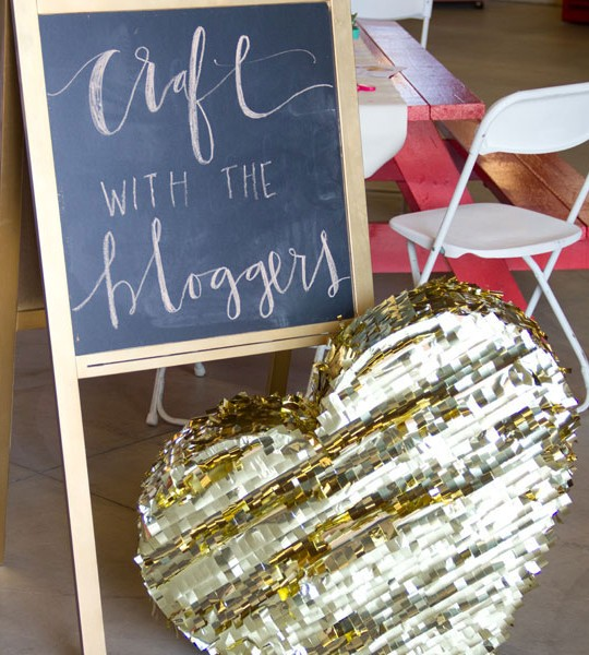 Craft with the Bloggers (For Valentine's Day!) Recap