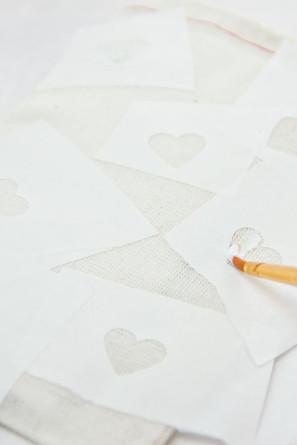 DIY Glitter Heart Bags