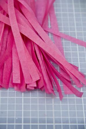 DIY Mini Tissue Paper Tassels