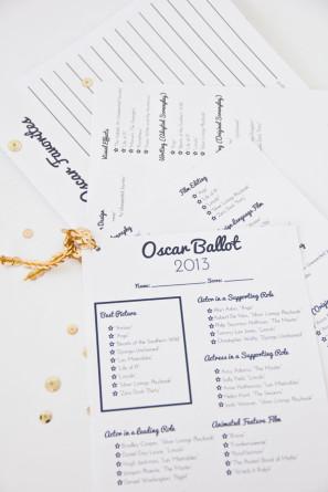 DIY Printable Oscar Ballot